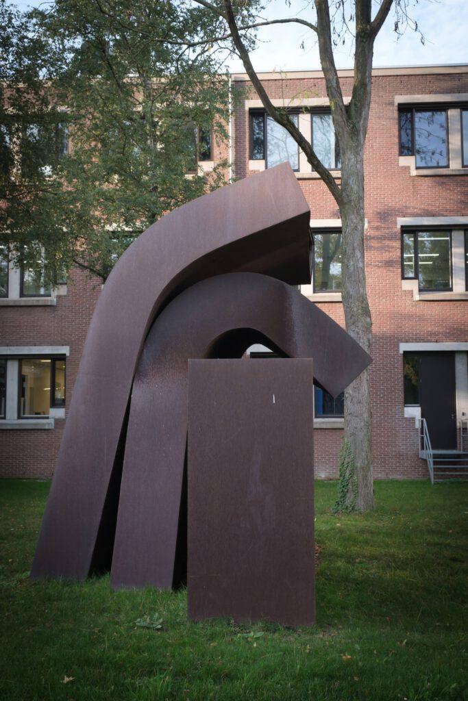 Staalplaten-kunstwerk / Steel plates, Gerard Walraeven (1979)